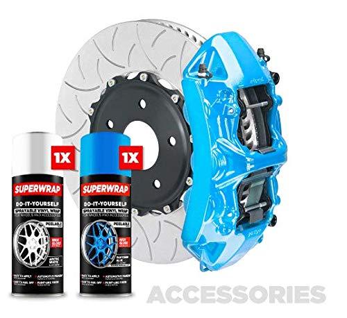 Superwrap Zubehör-Set – Bremssattel, Grills oder Embleme – Vinyl Wrap Spray (Santorini Blue)