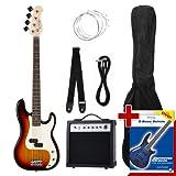 Rocktile Groovers Pack - Bajo eléctrico PB, color sunburst