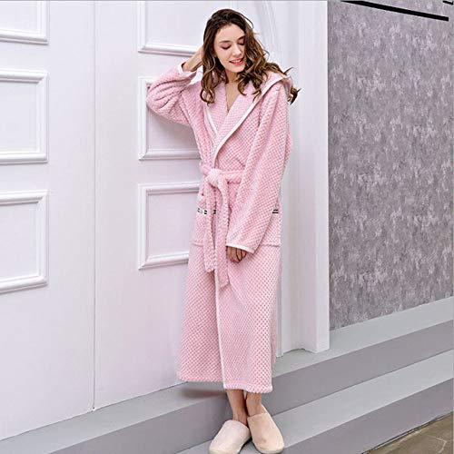 YRTHOR 2019 Winter Hooded Robe Lange Roben für Paare Plus GRÖSSE Kimono Bademantel...
