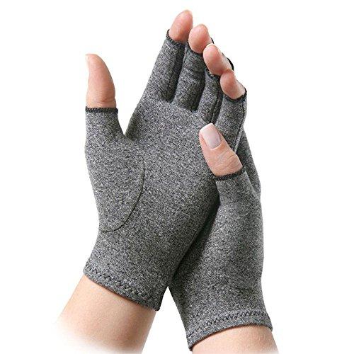 1 par de guantes de compresión para la artritis, sin dedos, para mujer, alivia los síntomas de la artritis, la enfermedad de Raynaud y del túnel carpiano