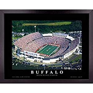 Buffalo Bills Football Stadium Poster Wall Art Decor Framed Print | 23 x 29 | NFL Game Day at Ralph Wilson Field | Aerial Posters & Pictures | Sports Fan Gifts for Guys & Girls College Bedroom Walls