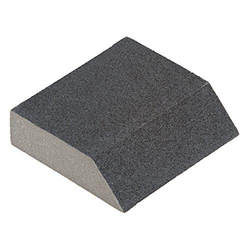 Wolfcraft 2779000 Schleifblock Kontur, Silizium-Karbid, Korn 120, grau