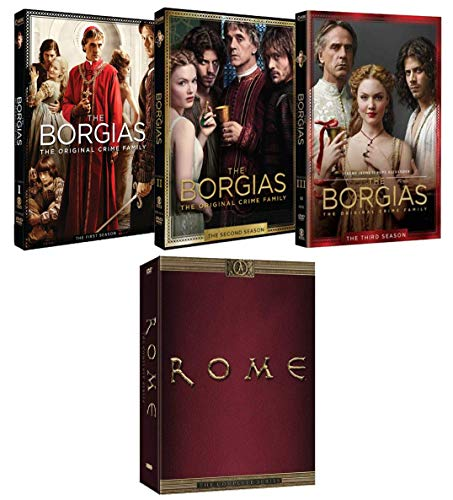 The Borgias and Rome: Complete Series Historical Drama DVD Collection