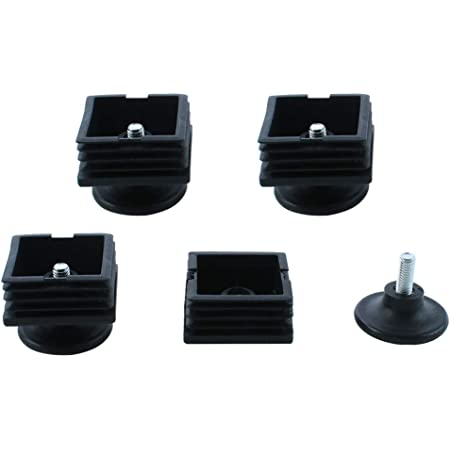 PACK OF 50 x 30mm SQUARE TABLE LEG ADJUSTABLE FOOT INSERT CATERING TABLE WORKTOP