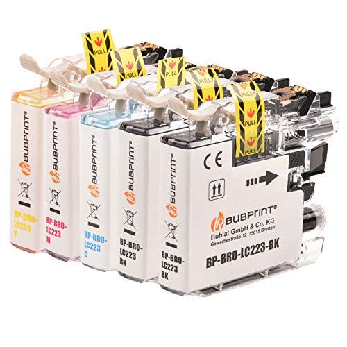 5 Bubprint Druckerpatronen kompatibel für Brother LC-223 LC-225 LC-227 XL für DCP-J4120DW DCP-J562DW MFC-J4420DW MFC-J4620DW MFC-J4625DW MFC-J480DW MFC-J5320DW MFC-J5620DW MFC-J880DW Multipack