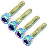 GARNECK 6 tornillos de acero inoxidable M630 mm para manillar de bicicleta MTB, para manillar de bicicleta, accesorios de bicicleta de colores