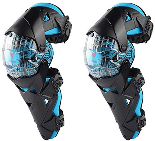 SCLL Knieschützer Unterstützung Sport Schutzausrüstung Motorrad Knieschützer Erwachsene Atmungsaktiv Einstellbar Aramidfaser Motocross Mountainbike New Rider Radfahren Skateboard für Laufen Fußba