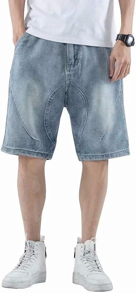 Wxian Men's Multi-Pocket Loose Cargo Denim Shorts
