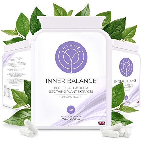 Inner Balance | Intestinal Probiotic Formula with Plant Extracts | High Strength 5 Billion CFU | Digestive Health | 60 Vegan Capsules