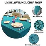 Balcony&Falcon Tischdecke Leinenoptik tischdecke abwaschbar Tischtuch Leinen Tischläufer Tischwäsche Eckig Wasserdicht Tischdecke Blau 145 x300 - 5
