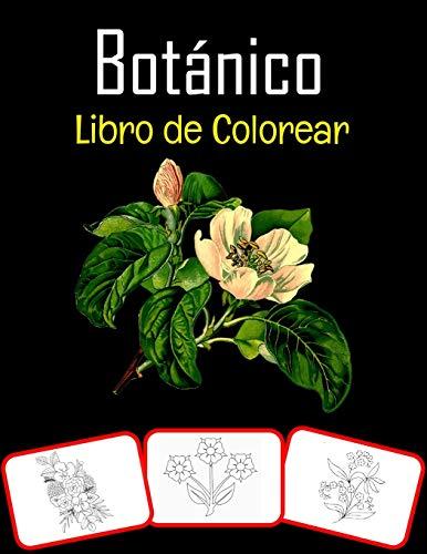 Botánico Libro de colorear: Imágenes botánicas, libro para colorear y aprendizaje con diversión para niños (60 páginas y 30 imágenes)
