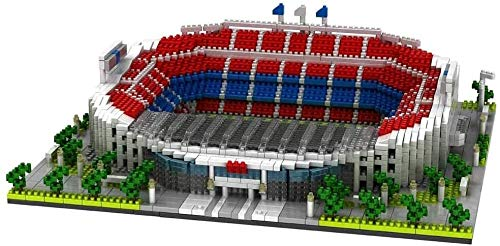 GUYUE Nano Blocks Camp NOU Fútbol Campo de fútbol 3500pcs + Nano Mini Building Blocks Kits Instruction Child Education DIY Toy Regalos