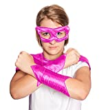 Everfan Women's Superhero Eye Mask and Powerbands (6' LX4 W, Magenta)