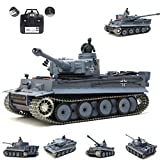Heng Long RC tank German Tiger I, 1:16, grey, 2.4 GHz, Pro model, metal gearbox