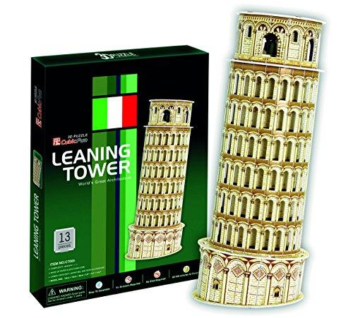 Puzzle 3D Torre Inclinada de Pisa   50 Piezas   Tamaño montado: 25 x 10 x 11 cms