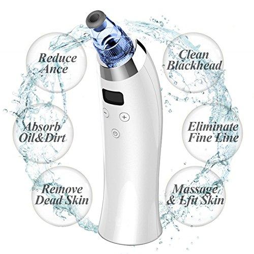 Extractor puntos negros Fairycity Limpiador facial eléctrico Máquina de eliminación de acné...