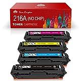 Toner Kingdom 216A (sin Chip) Reemplazo de Cartuchos de tóner compatibles para HP 216A W2410A W2411A W2412A W2413A para HP MFP M183fw M182nw M182n Impresora HP M155nw M155a (Paquete de 4)