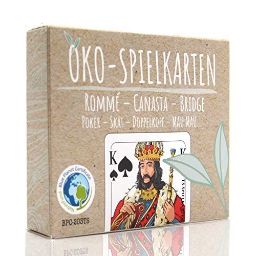 TS Spielkarten Öko Rommee Karten, Canasta, Bridge, Französisches Bild, Skat Poker Mau-Mau Kartenspiel, Original Romme Karten (1x, Karten in Faltschachtel)