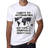 Hombre Camiseta Vintage T-Shirt Gráfico I Went To Kitchener Blanco
