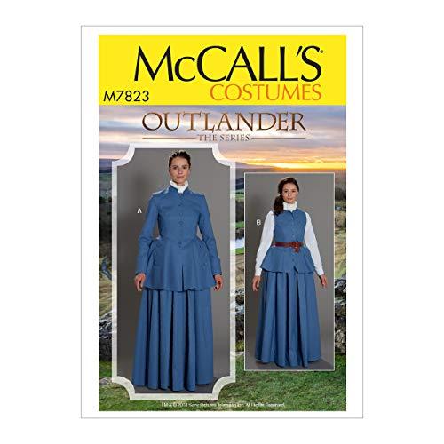 McCall Pattern Company McCall's Outlander The Series Damen Weste und Jacke Cosplay Kostüm Schnittmuster Größen 34-42 36-38-40 Weiß