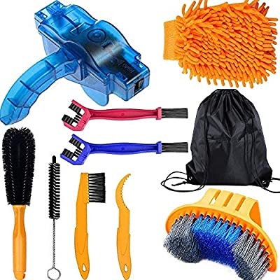 Od-sport Precision Bicycle and Motorcycle Chain Cleaning Brush Tool, Bicycle Maintenance Kit-Gear Chain Cleaning Brush, Suitable for Mountain, Road, City, Hybrid, Bicycle and Folding Bicycle 10Pieces