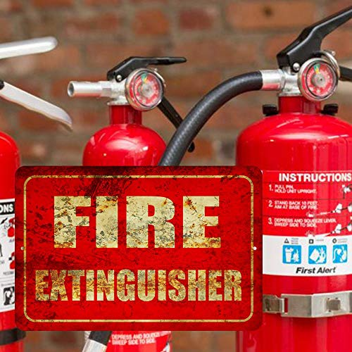 Fire Extinguisher Metal Business Novelty Tin Sign Indoor and Outdoor use 8