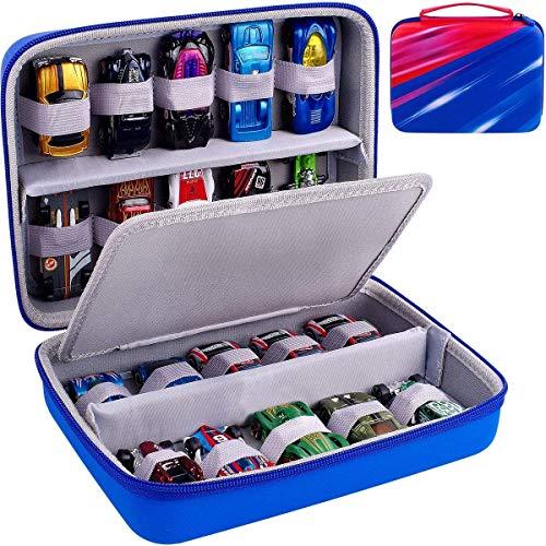 ALKOO Tasche fur Hot Wheels V6697 50er Pack 1:64 Die-Cast Fahrzeuge, Lagerung Kasten fur Hotwheels je 20 Spielzeugautosfur
