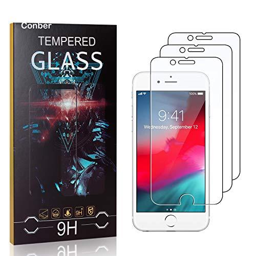 Conber [3 Stück] Displayschutzfolie kompatibel mit iPhone 6S / iPhone 6, Panzerglas Schutzfolie für iPhone 6S / iPhone 6 [9H Härte][Hüllenfreundlich]