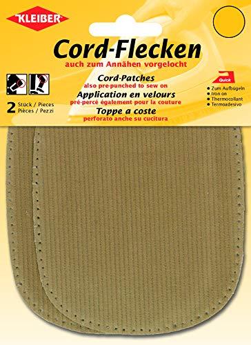 Kleiber - Coderas y Rodilleras, termoadhesivas o para coserlas, Color Color Beige, 2 por Paquete