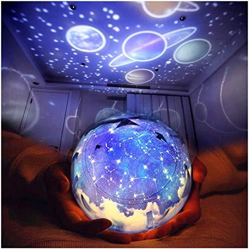 プラネタリウム LED 小夜灯(6 セット投影映画 )投影ランプ スタープロジェクター ライトプロジェクター ナイトライト 簡易プラネタリウム スポットライト満天星空 360度回転 LED夜間ライト 卓上スタンド ロマンチック雰囲気作り USB 電池 兼用