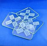Copa Judaica Etched Glass Mah Jongg Tiles Coasters (Set/4)
