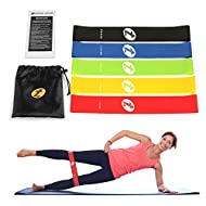 TOPLUS Resistance Bands, Exercise Loop Bands - Set of 5 Resistance Loops Kit for Legs and Butt