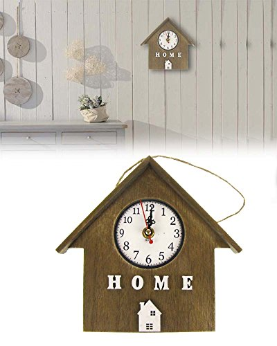 kamiustore Orologio da Parete MOD.Sweet Home Stile Vintage Shabby Chic in Legno cucù Design