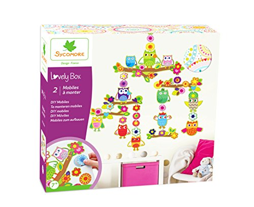 Kit de loisir créatif enfant - 2 mobiles à monter - DIY - Lovely Box Grand Modèle Collector - Dès 7 ans - Sycomore - CRE5060