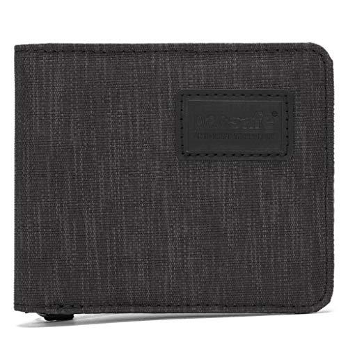 Pacsafe RFIDsafe Bifold Wallet Portemonnaie Geldbörse, Erwachsene, Unisex, Schwarz (schwarz), Einheitsgröße