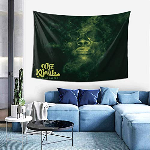 Wiz Khalifa Rolling Papers Tapestry Indoor Wall Hanging Window Curtain Picnic Mat Decor Bedroom Living Room 60x40 Inch