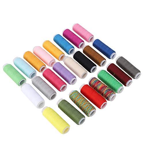 Hilo encerado - Carrete de hilo de tela encerado plano de 24 colores para pulsera de joyería de abalorios DIY