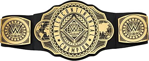 WWE Cinturón Campeonato Intercontinental, disfraz de juguete para niños +6 años (Mattel GRT40)