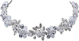 Amosfun Bridal Headwear Jelly Beads Soft Chain Hair Band Alloy Headpiece Wedding Hair Accessories (Silver)