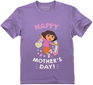 Dora The Explorer Happy Mother's Day Official Dora Toddler Kids T-Shirt
