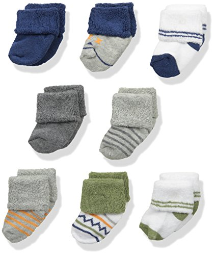 Luvable Friends Unisex Baby Newborn and Baby Terry Socks, Aztec, 0-6 Months