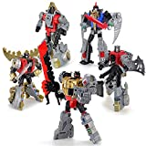 Nanston Transformers Toys Set Grimlock Toys,Beast Action Figures,5.5-inch Deformation Leader Class Grimlock,5 in 1 Toys Sets