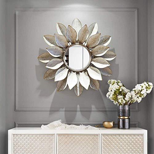 Tridimensional-pared de la Decorac American Pared tridimensional del arte del hierro de pared decorativo espejo, pintado a mano creativa, la pared del hogar decoración de la joyería colgante Cubiertas