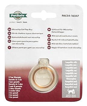 PetSafe - Clé de collier pour Chatière avec puce électronique, Elégant médaillon d'identification pour Chat non pucé - Transparent