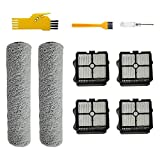 WENYING Vacuum Cleaner Cleaning Head Roller Brushes Filters Fit for Tineco IFLOOR Tineco IFLOOR Plus TINECO Floor One Cordless Wet Dry Vacuum Cleaners Kit Home Accessories (Color : Gray White)