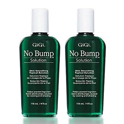 GiGi No Bump Skin Smoothing Topical Solution for Ingrown Hair, Bumps, and Razor Burns