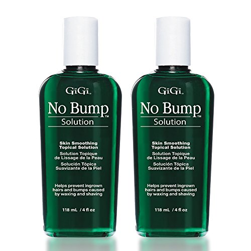 GiGi No Bump Skin Smoothing Topical Solution for Ingrown Hair, Bumps, and Razor Burns, 4 oz x 2 pack