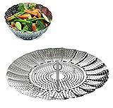 SYGA Stainless Steel Vegetable Steamer Basket/Insert for Pots, Pans, Crock Pots & More