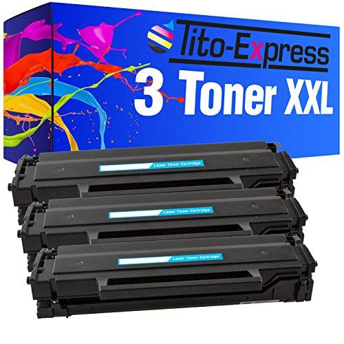 Tito-Express Platinum Serie 3x Lasertoner XXL Black voor Samsung MLTD111S 111S MLT D 111 S Xpress M SL 2020 2022 2070 2000 2026 W F M2070 M2070F M2070W SL-M2000 SL-M2022 M2026