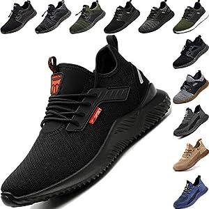 5144lfb4viL. SS300  - Zapatos de Seguridad Hombre, Zapatillas de Trabajo con Punta de Acero Ultraligero Transpirables, Talla 36-48